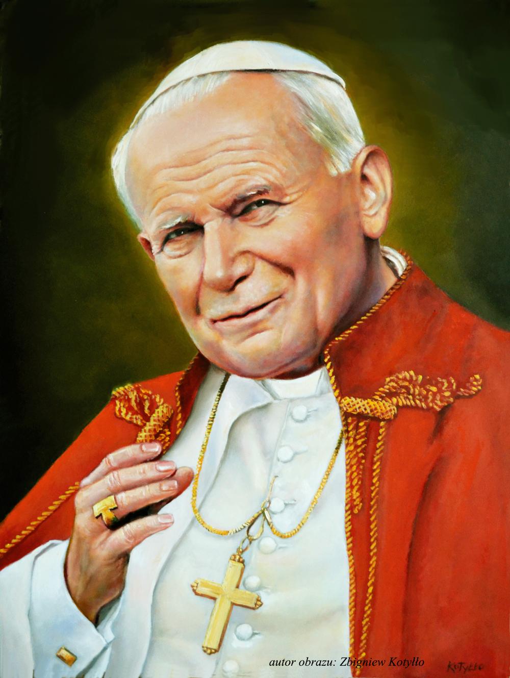jan Paweł II autor obrazu Zbigniew Kotyłło